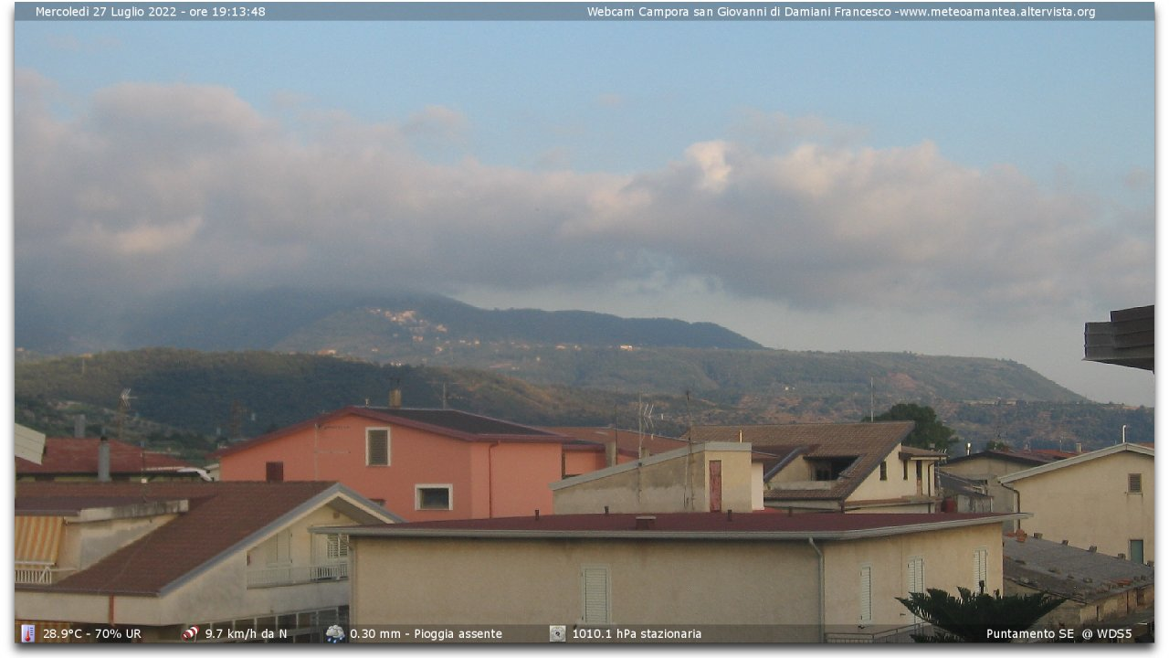 Webcam Campora san Giovanni CS - fraz. Amantea